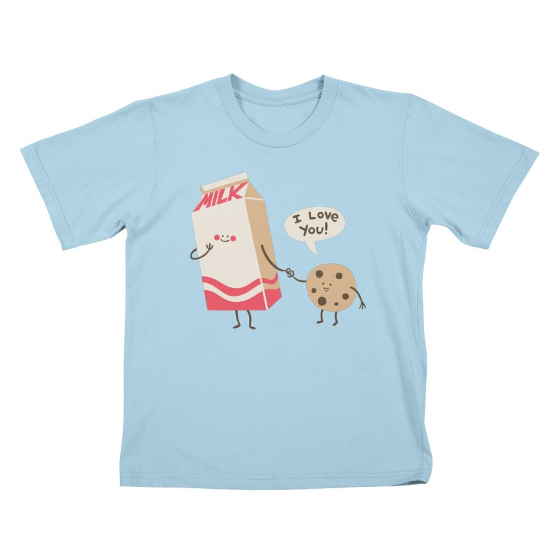 Cookie Loves Milk Kids T-Shirt by finkenstein's Artist Shop
