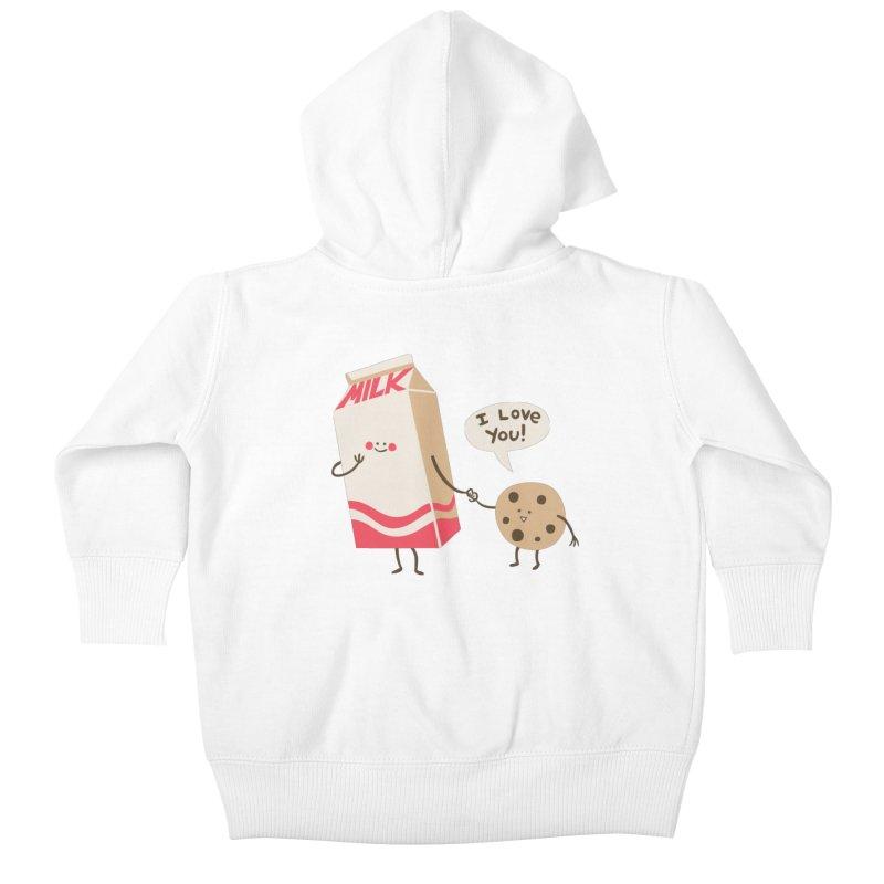 Cookie Loves Milk Kids Baby Zip-Up Hoody by finkenstein's Artist Shop