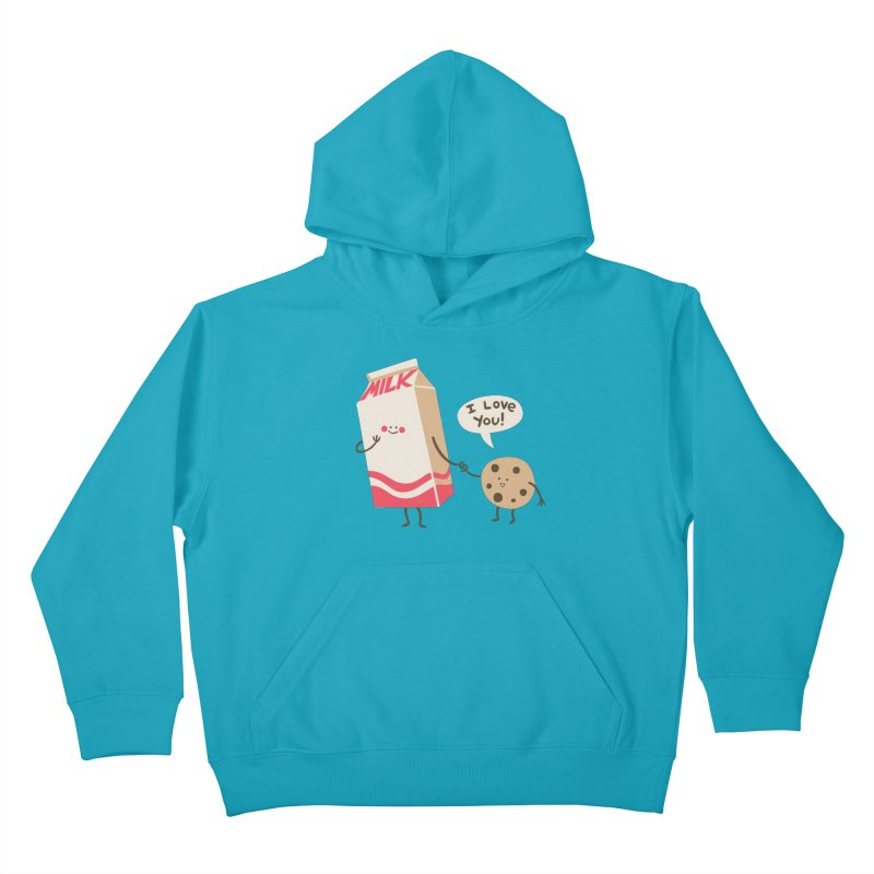 Cookie Loves Milk Kids Pullover Hoody by finkenstein's Artist Shop