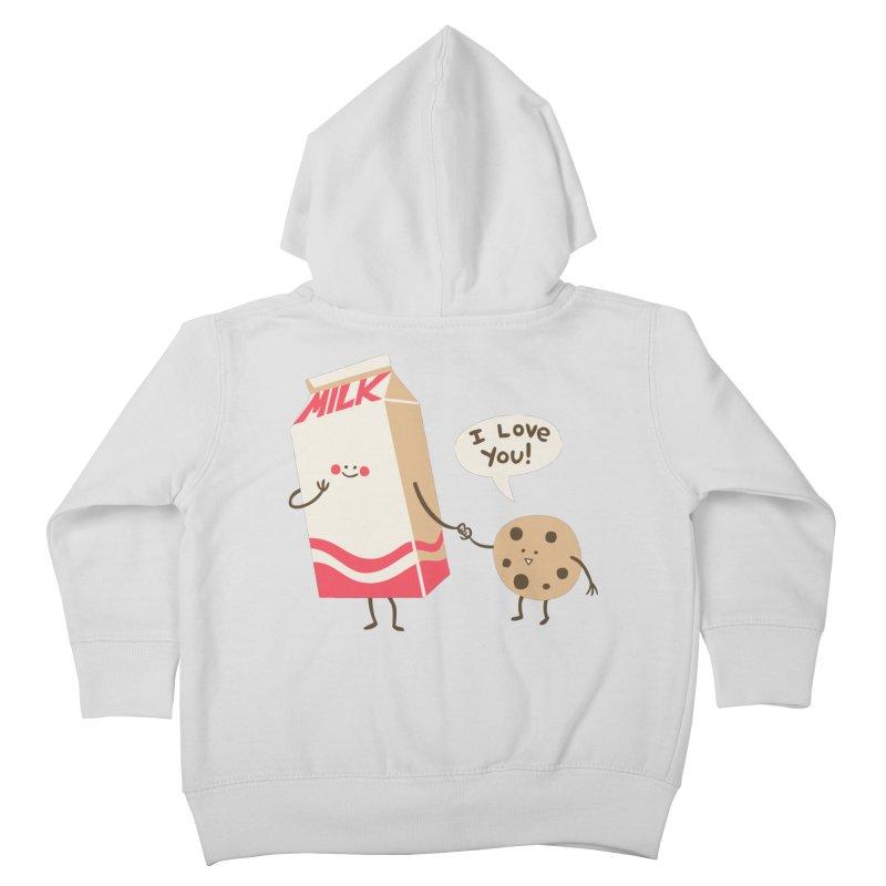 Cookie Loves Milk Kids Toddler Zip-Up Hoody by finkenstein's Artist Shop