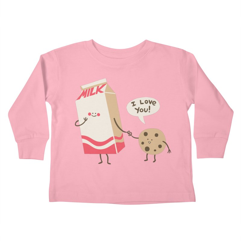 Cookie Loves Milk Kids Toddler Longsleeve T-Shirt by finkenstein's Artist Shop