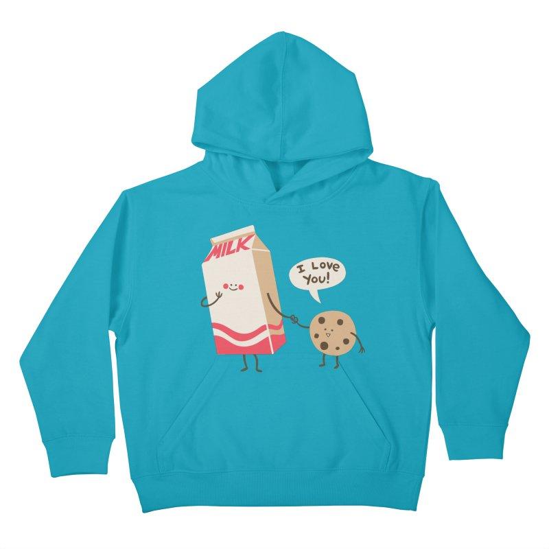 Cookie Loves Milk Kids Pullover Hoody by finkenstein's Artist Shop