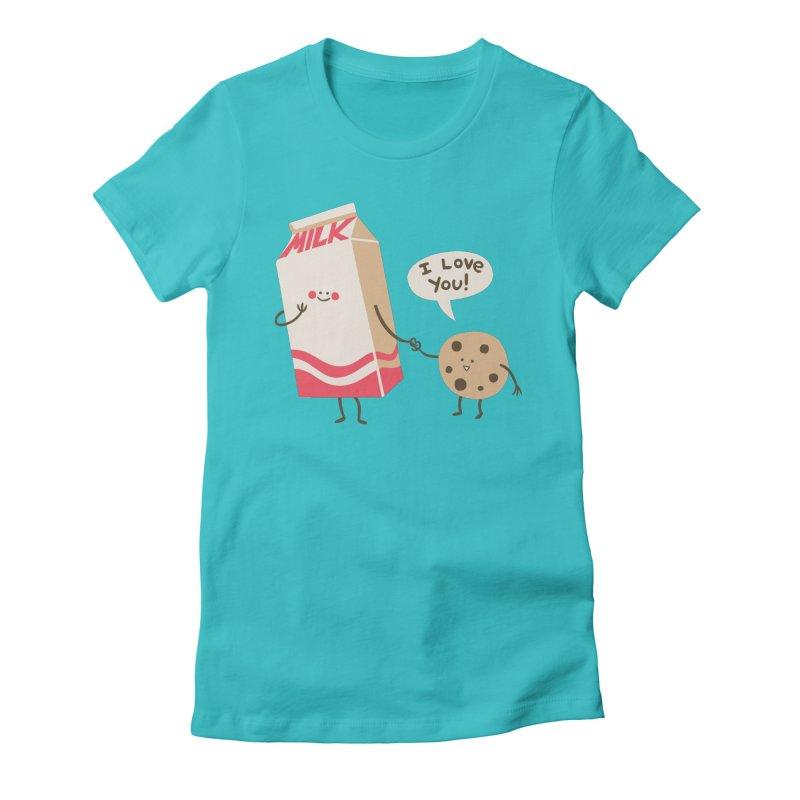 Cookie Loves Milk Women's Fitted T-Shirt by finkenstein's Artist Shop