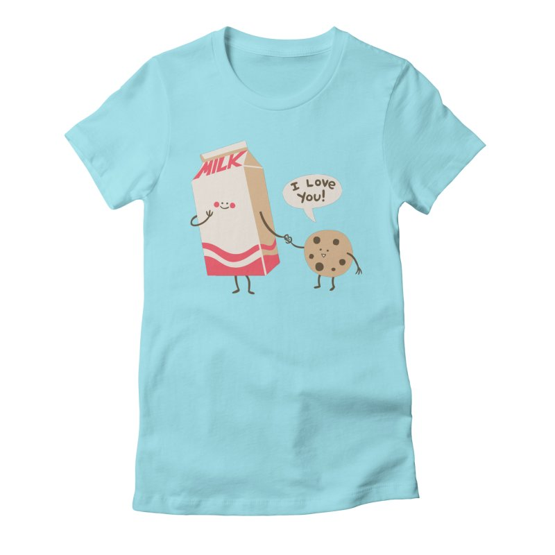 Cookie Loves Milk Women's Fitted T-Shirt by finkenstein's Artist Shop