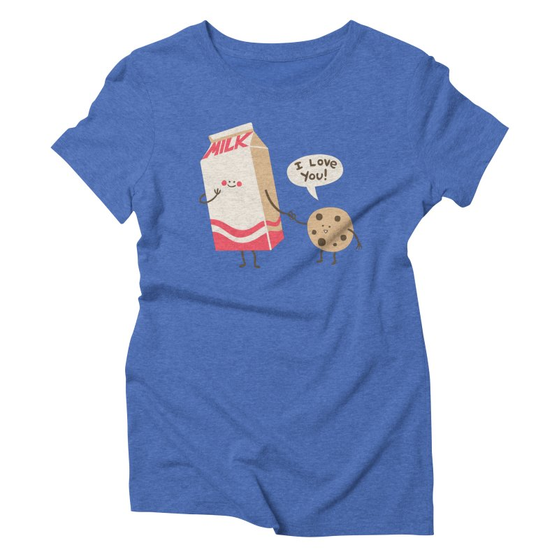 Cookie Loves Milk Women's Triblend T-Shirt by finkenstein's Artist Shop