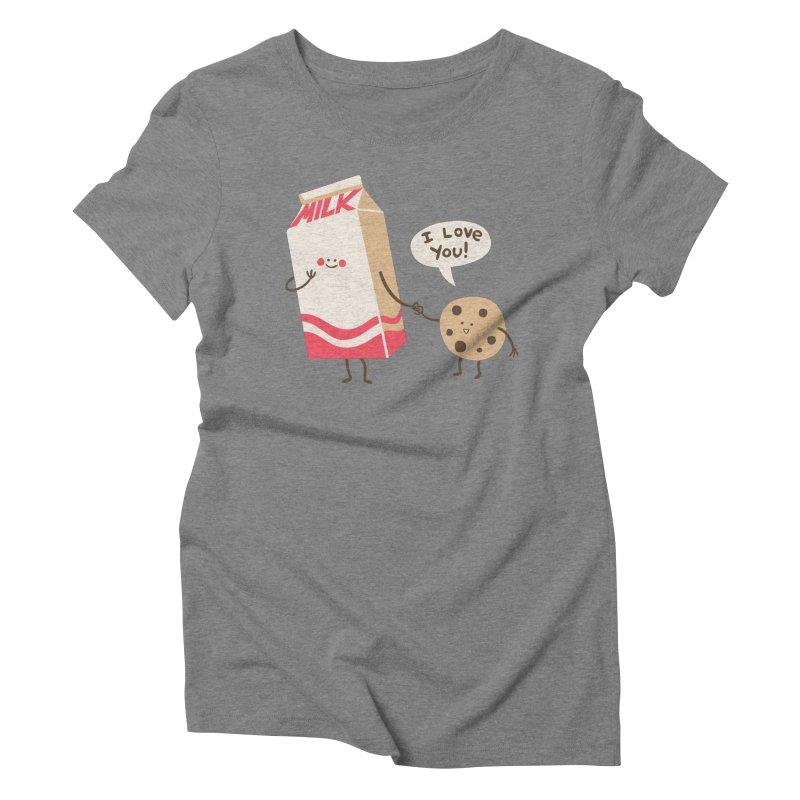 Cookie Loves Milk Women's Triblend T-Shirt by finkenstein's Artist Shop