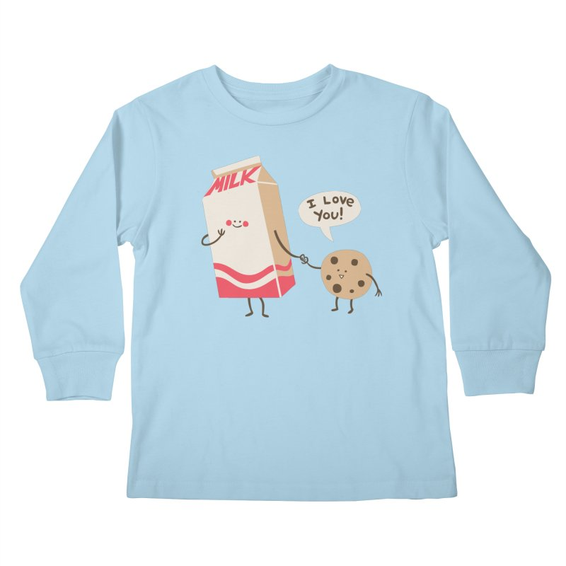 Cookie Loves Milk Kids Longsleeve T-Shirt by finkenstein's Artist Shop