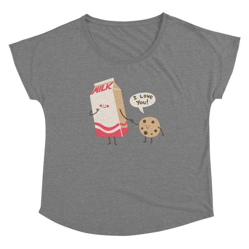 Cookie Loves Milk Women's Scoop Neck by finkenstein's Artist Shop