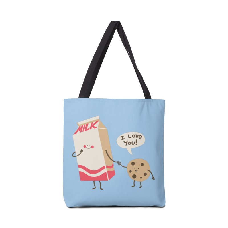 Cookie Loves Milk in Tote Bag by finkenstein's Artist Shop