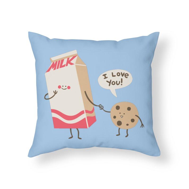 Cookie Loves Milk Home Throw Pillow by finkenstein's Artist Shop