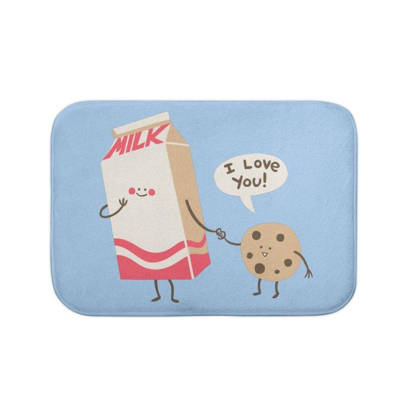 Cookie Loves Milk Home Bath Mat by finkenstein's Artist Shop