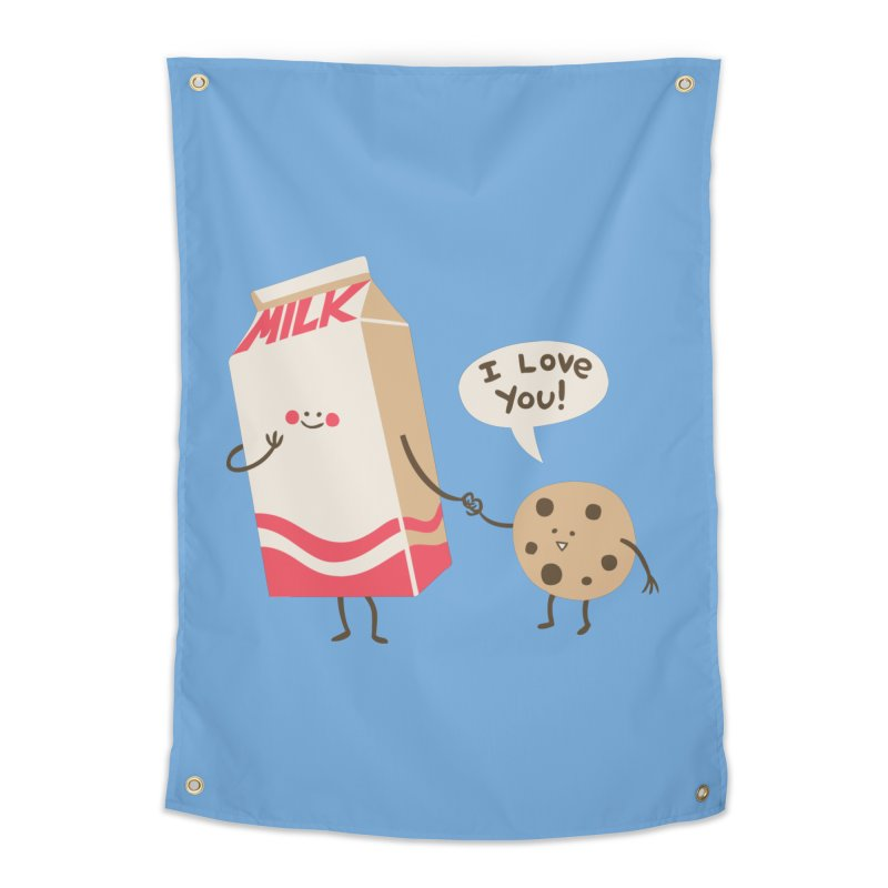 Cookie Loves Milk Home Tapestry by finkenstein's Artist Shop