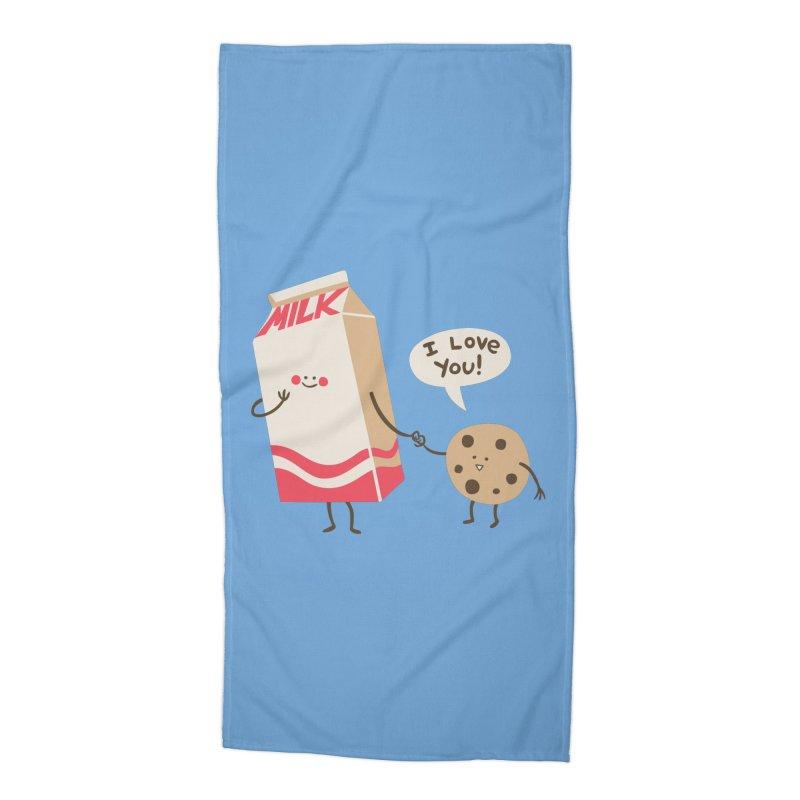 Cookie Loves Milk Accessories Beach Towel by finkenstein's Artist Shop