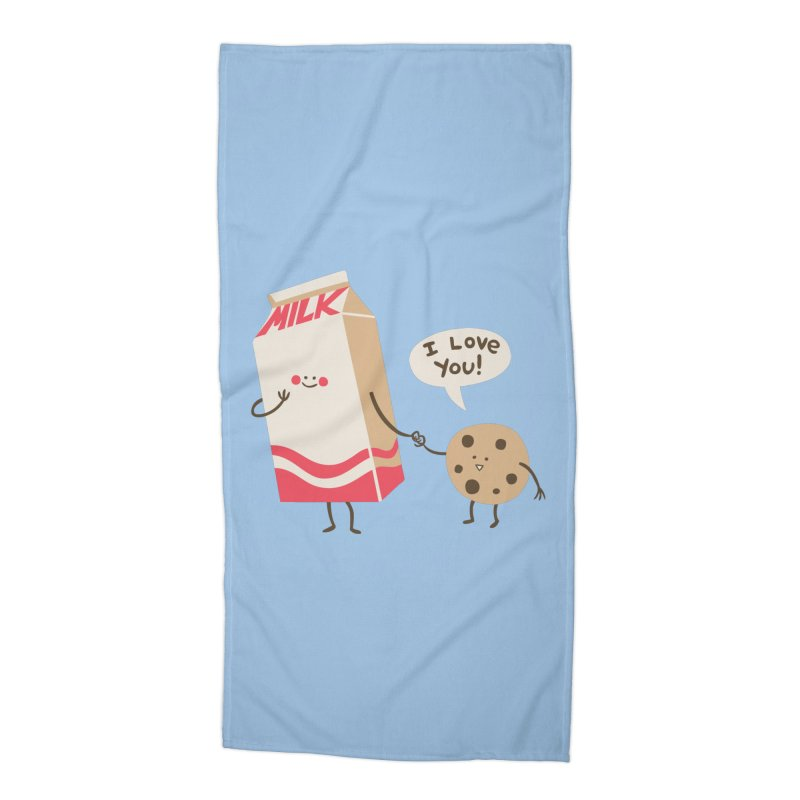 Cookie Loves Milk Accessories Beach Towel by finkenstein's Artist Shop