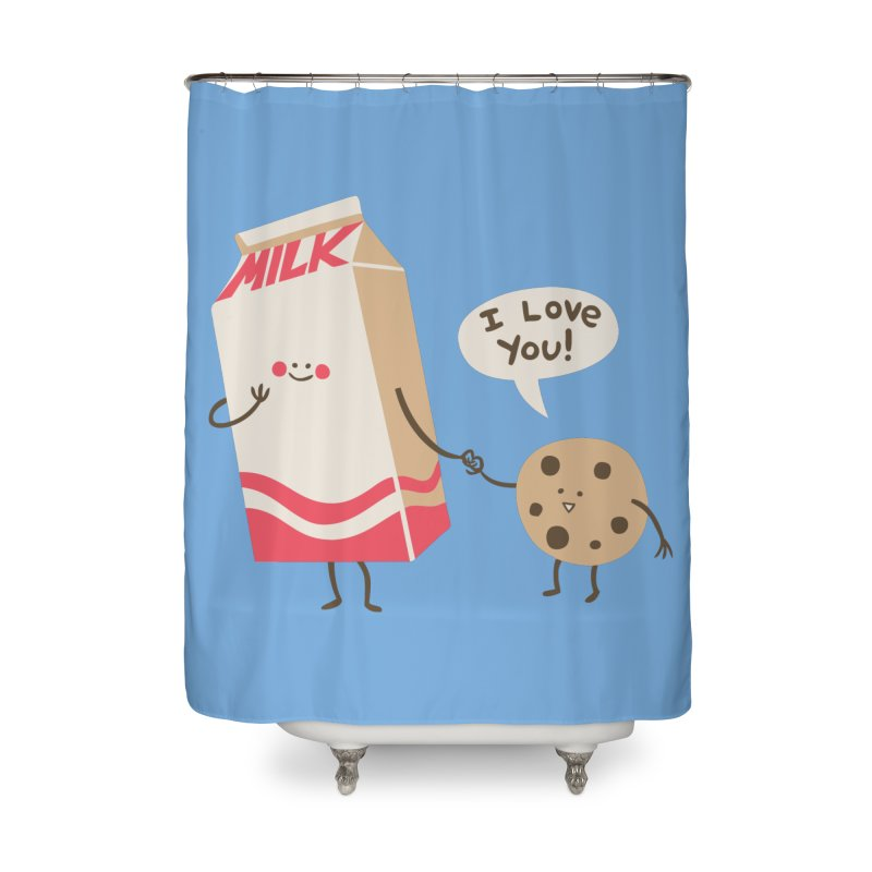 Cookie Loves Milk Home Shower Curtain by finkenstein's Artist Shop