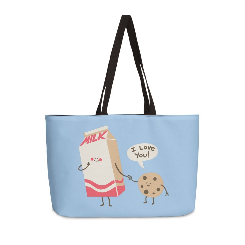 Cookie Loves Milk Accessories Weekender Bag Bag by finkenstein's Artist Shop