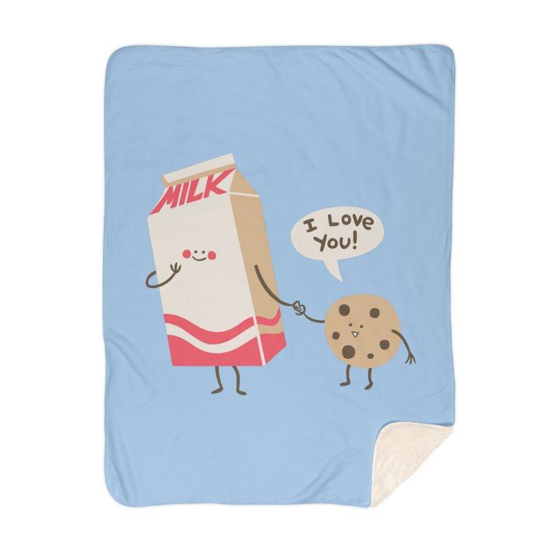 Cookie Loves Milk Home Blanket by finkenstein's Artist Shop