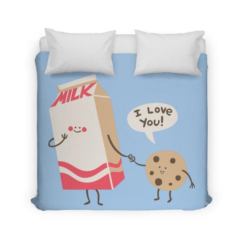 Cookie Loves Milk Home Duvet by finkenstein's Artist Shop