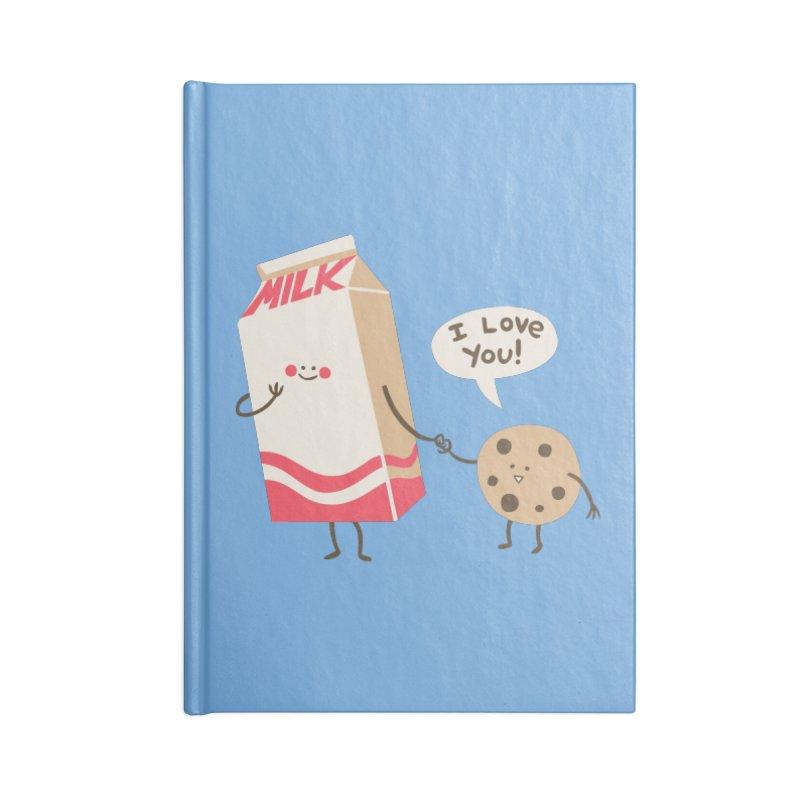 Cookie Loves Milk Accessories Notebook by finkenstein's Artist Shop