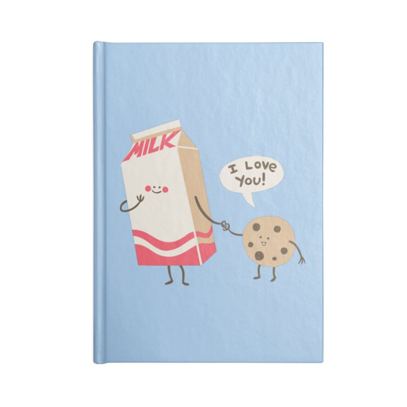 Cookie Loves Milk Accessories Lined Journal Notebook by finkenstein's Artist Shop