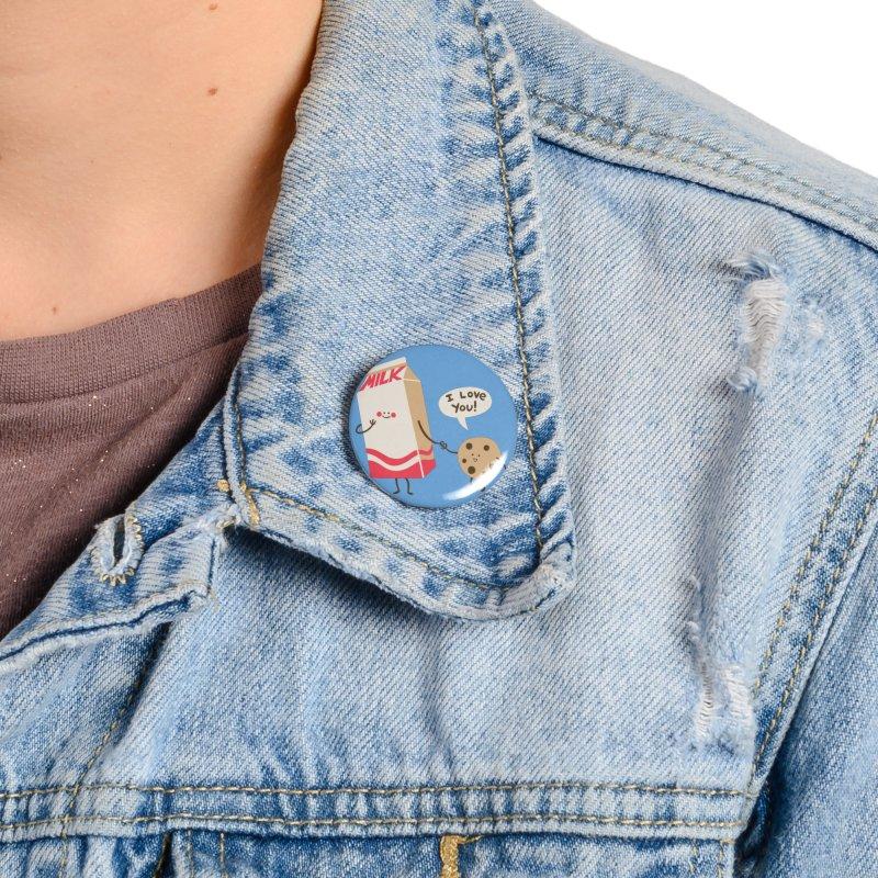 Cookie Loves Milk Accessories Button by finkenstein's Artist Shop