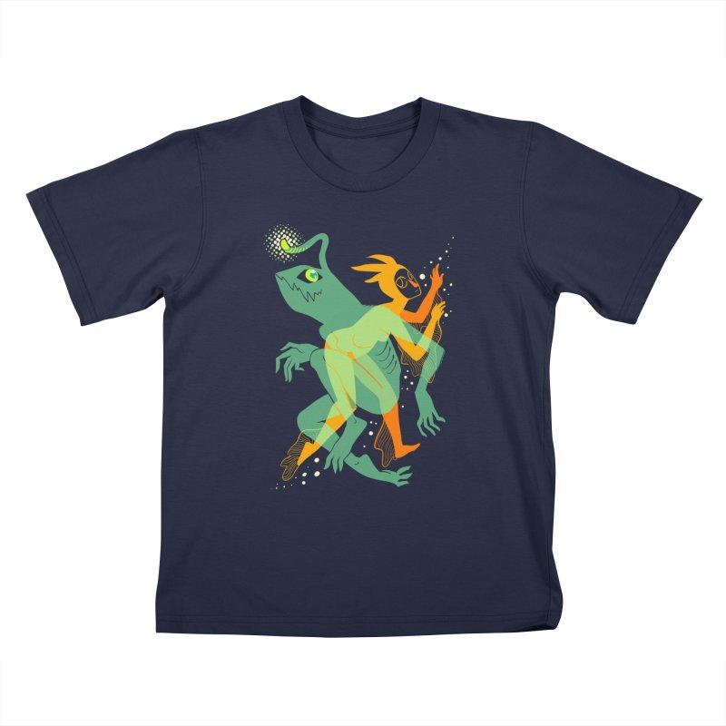 Loom and Essence Kids T-Shirt by finkenstein's Artist Shop