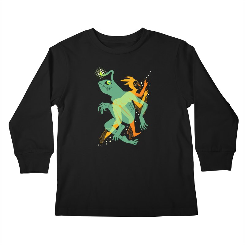 Loom and Essence Kids Longsleeve T-Shirt by finkenstein's Artist Shop