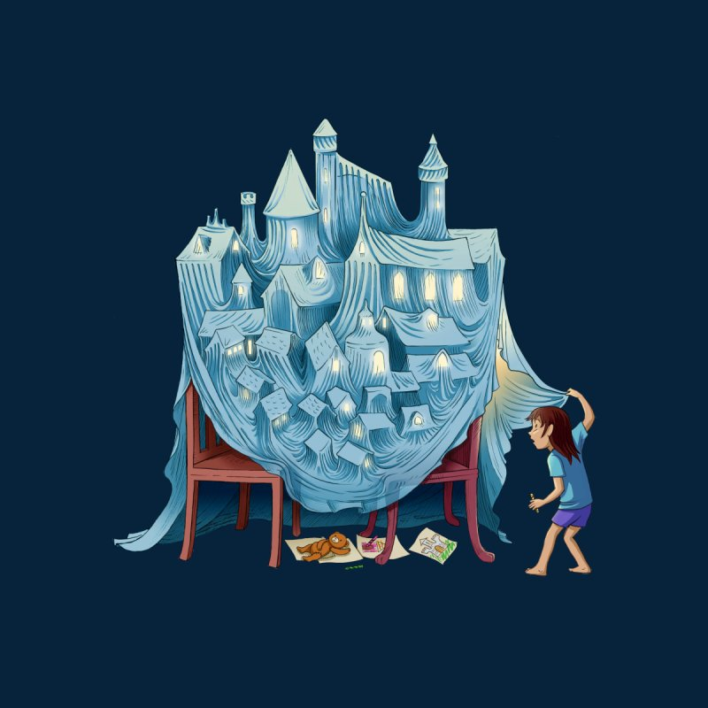 The Perfect Chair Fort Kids T-Shirt by finkenstein's Artist Shop
