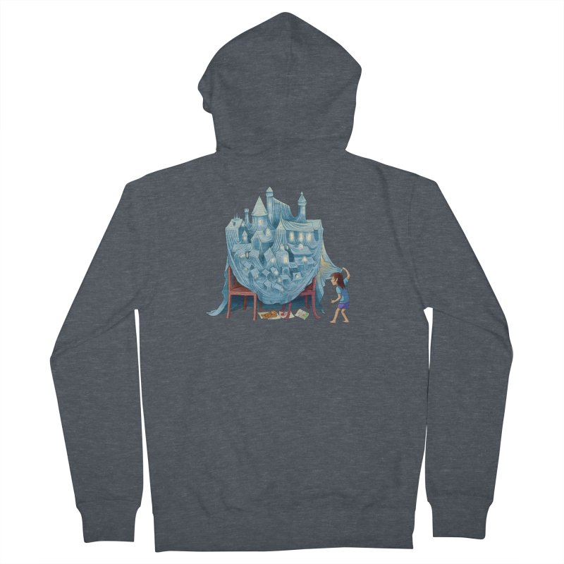 The Perfect Chair Fort Men's French Terry Zip-Up Hoody by finkenstein's Artist Shop