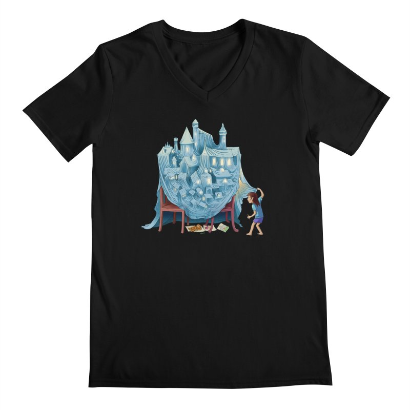 The Perfect Chair Fort Men's Regular V-Neck by finkenstein's Artist Shop