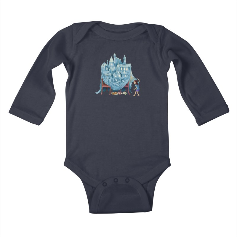 The Perfect Chair Fort Kids Baby Longsleeve Bodysuit by finkenstein's Artist Shop