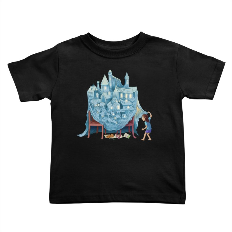 The Perfect Chair Fort Kids Toddler T-Shirt by finkenstein's Artist Shop