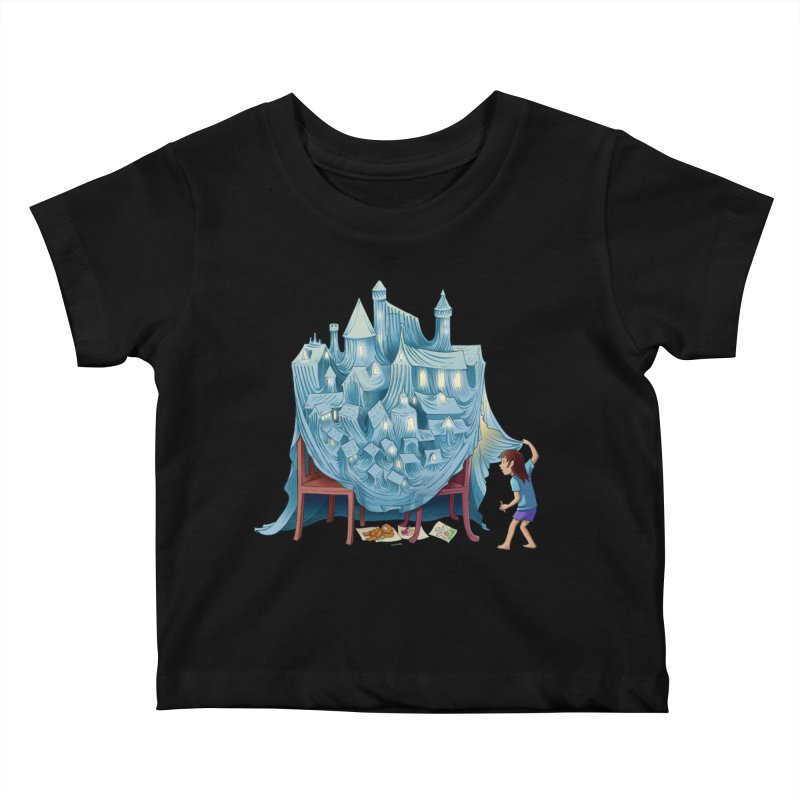 The Perfect Chair Fort Kids Baby T-Shirt by finkenstein's Artist Shop