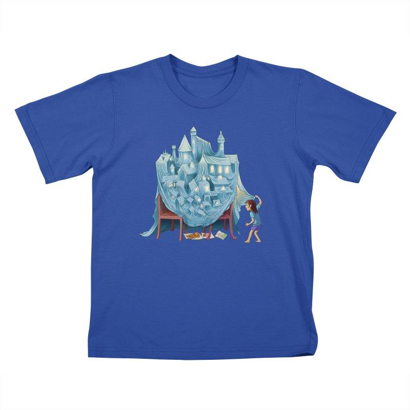 The Perfect Chair Fort Kids T-Shirt by finkenstein's Artist Shop