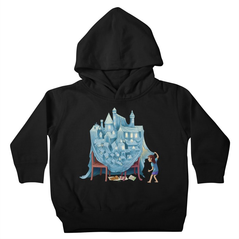 The Perfect Chair Fort Kids Toddler Pullover Hoody by finkenstein's Artist Shop