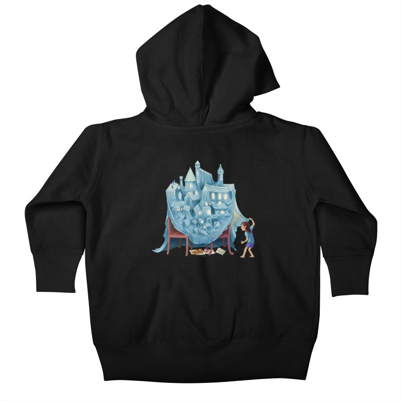 The Perfect Chair Fort Kids Baby Zip-Up Hoody by finkenstein's Artist Shop