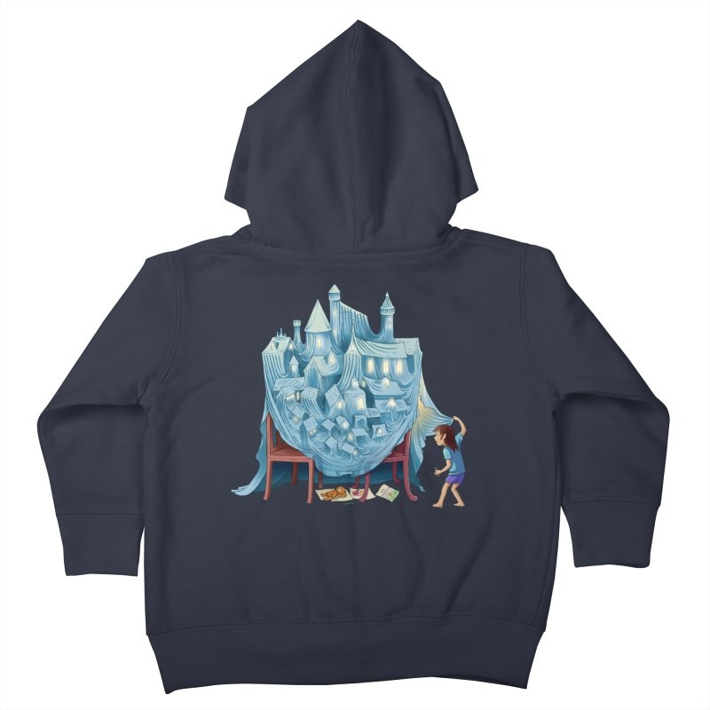 The Perfect Chair Fort Kids Toddler Zip-Up Hoody by finkenstein's Artist Shop