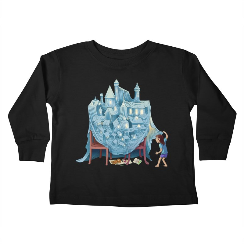 The Perfect Chair Fort Kids Toddler Longsleeve T-Shirt by finkenstein's Artist Shop