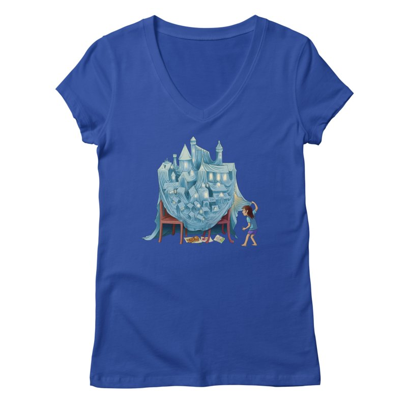 The Perfect Chair Fort Women's Regular V-Neck by finkenstein's Artist Shop