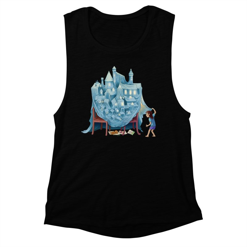 The Perfect Chair Fort Women's Muscle Tank by finkenstein's Artist Shop