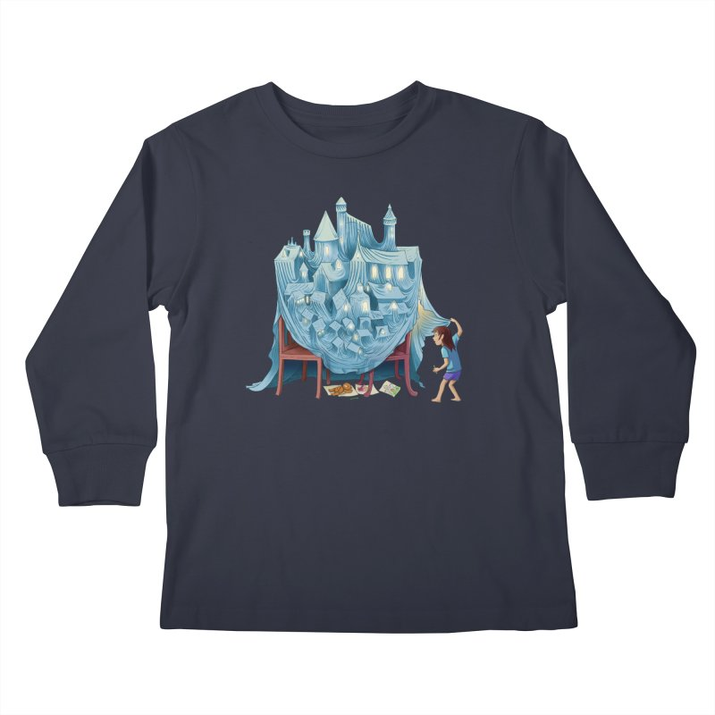 The Perfect Chair Fort Kids Longsleeve T-Shirt by finkenstein's Artist Shop