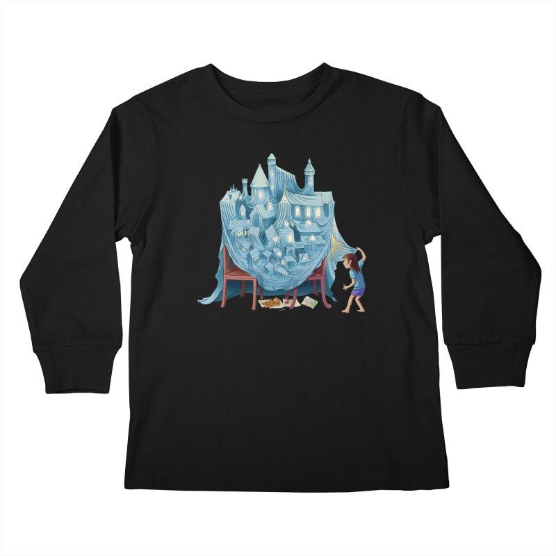 The Perfect Chair Fort Kids Longsleeve T-Shirt by finkenstein's Artist Shop