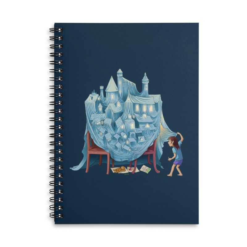 The Perfect Chair Fort Accessories Lined Spiral Notebook by finkenstein's Artist Shop