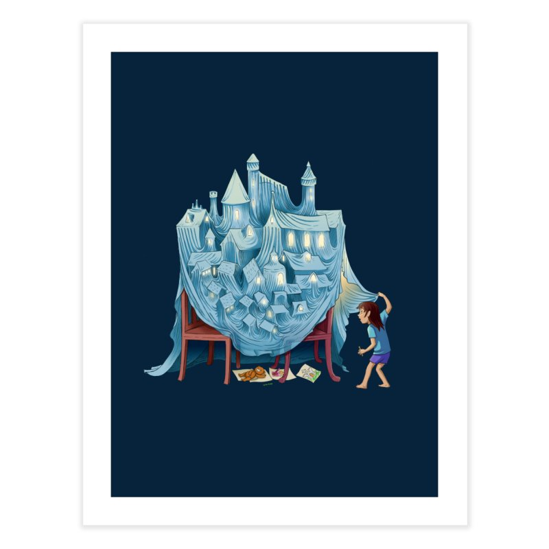 The Perfect Chair Fort Home Fine Art Print by finkenstein's Artist Shop