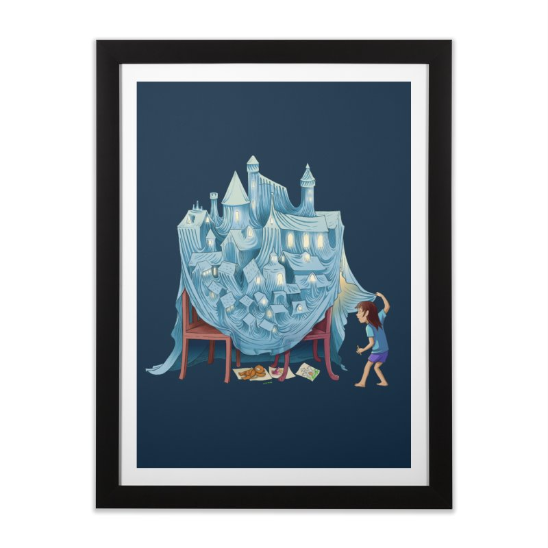 The Perfect Chair Fort Home Framed Fine Art Print by finkenstein's Artist Shop