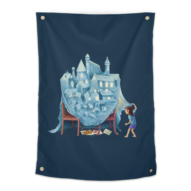 The Perfect Chair Fort Home Tapestry by finkenstein's Artist Shop