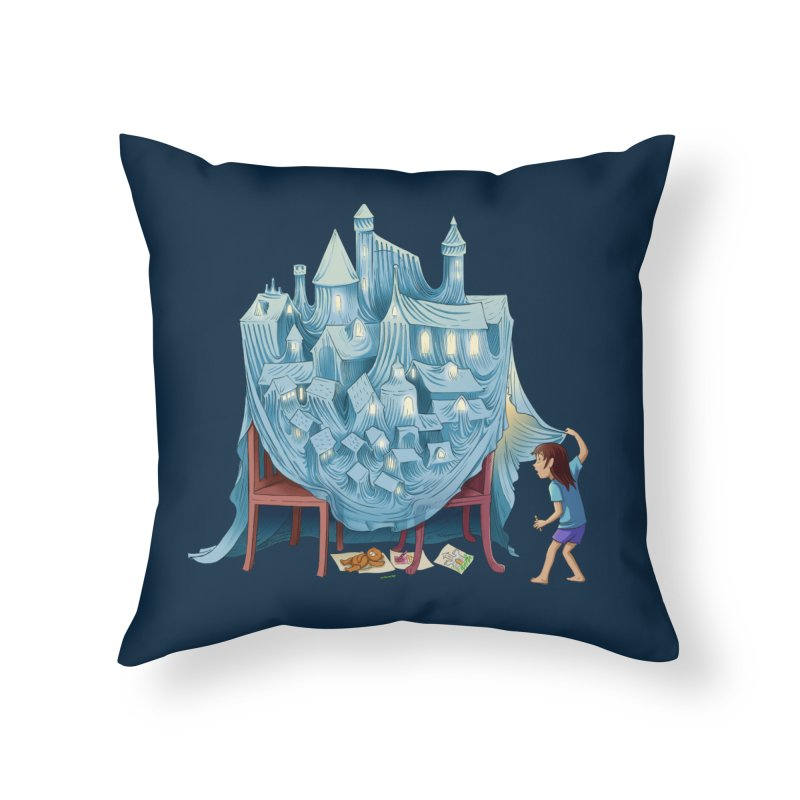 The Perfect Chair Fort Home Throw Pillow by finkenstein's Artist Shop