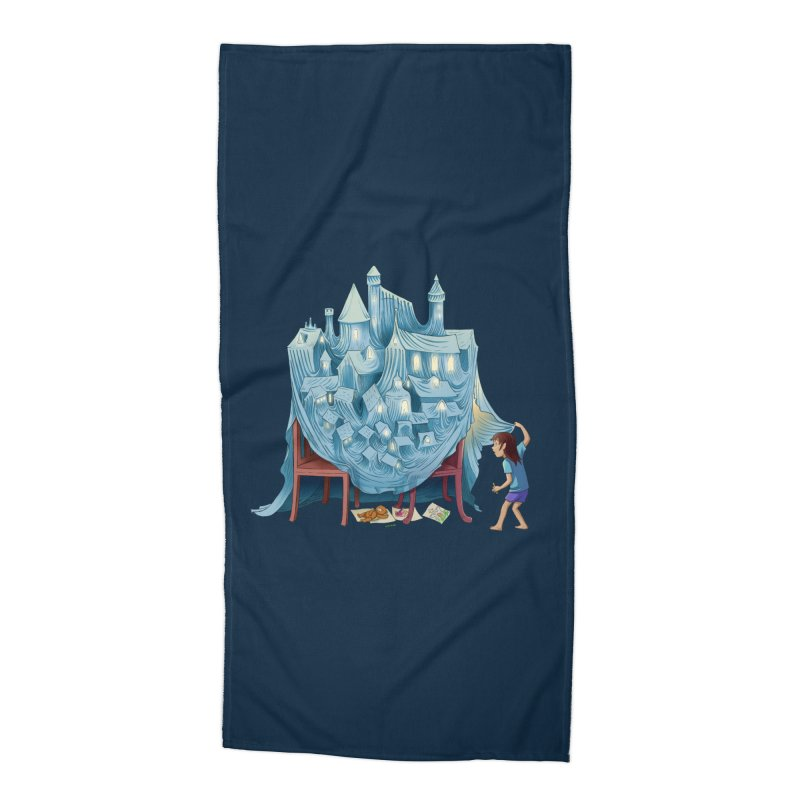 The Perfect Chair Fort Accessories Beach Towel by finkenstein's Artist Shop