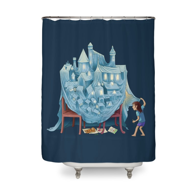 The Perfect Chair Fort Home Shower Curtain by finkenstein's Artist Shop