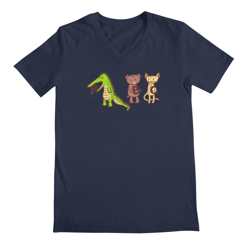 A is for Jerks Men's V-Neck by finkenstein's Artist Shop